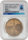 Explorers:Space Exploration, Apollo 11: Galaxy Mint Medal Set 1 Apollo Series Bronze Medal MS 63 NGC, Directly From The Armstrong Family Collection™, Certi...