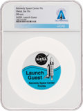 "Explorers:Space Exploration, NASA Shuttle Program: ""Launch Guest"" Original Pinback Button Directly From The Armstrong Family Collection™, Certified and..."