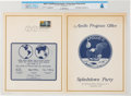 """Explorers:Space Exploration, Apollo 11: """"Splashdown Party"""" Program with """"First Man On The Moon"""" First Day Cancellation Directly From The Armstrong Family C..."""