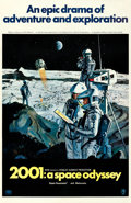 "Movie Posters:Science Fiction, 2001: A Space Odyssey (MGM, 1968). One Sheet (27"" X 41"") Style B,Robert McCall Artwork.. ..."