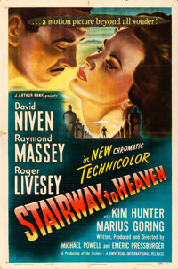 "Stairway to Heaven (Universal International, 1946) a.k.a. A Matter of Life and Death. One Sheet (27"" X 41"")..."