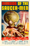 Movie Posters:Science Fiction, Invasion of the Saucer-Men (American International, 1957)....