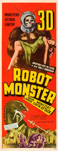 "Movie Posters:Science Fiction, Robot Monster (Astor Pictures, 1953). Insert (14"" ..."