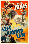 "Movie Posters:Western, Left Handed Law (Universal, 1937). One Sheet (27"" X 41"").. ..."