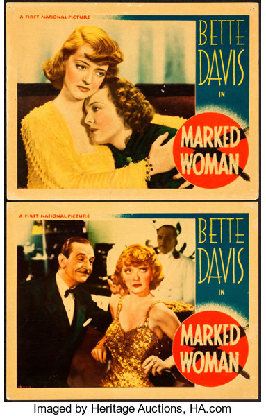 Movie PostersCrime Marked Woman Warner Brothers 1937 Lobby Cards