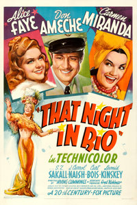 """That Night in Rio (20th Century Fox, 1941). One Sheet (27"""" X 41"""") Style A"""