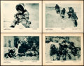 "Movie Posters:Documentary, Nanook of the North (Pathé, 1922). Lobby Cards (4) (11"" X 14"")..... (Total: 4 Items)"