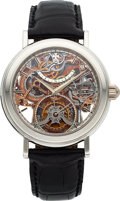 Timepieces:Wristwatch, Vacheron Constantin, Highly Important and Extremely Rare Ref: 30051/000P-8864, Platinum Openwork Tourbillon, Ltd Ed. No. 2/2, ...