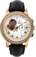 Timepieces:Wristwatch, Zenith, El Primero, 18k Chronomaster Power Reserve, Diamond Bezel,Circa 2000s. ...