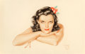 Other, Alberto Vargas (American, 1896-1982). Portrait of Jane Russell, 1942. Watercolor on board. 18.5 x 26 in.. Signed and dat...