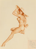 Other, Alberto Vargas (American, 1896-1982). Girl in Yellow Sunsuit (Jean Dean), circa 1947. Watercolor on board. 29 x 21 in.. ...