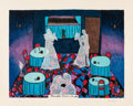 Prints & Multiples, Hollis Sigler (1948-2001). There's No Future In It, 1984. Lithograph in colors on Arches paper. 18-1/8 x 24 inches (46 x...