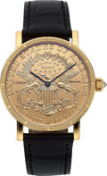 Timepieces:Wristwatch, Corum, 1904 Eagle $20 Dollar Coin Watch, 18k YG, Self Winding,Circa 2014. ...