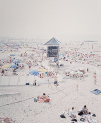 Massimo Vitali (Italian, b. 1944-) Knokke Beach Polyptych from Landscape and Figures Portfolio (eight)
