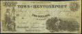 Obsoletes By State:Iowa, Bentonsport, IA- Town of Bentonsport $2 Aug., 1857. ...