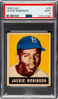 1948 Leaf Jackie Robinson #79 PSA Mint 9 - None Higher!