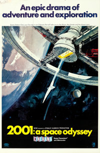 "2001: A Space Odyssey (MGM, 1968). Cinerama One Sheet (27"" X 41"") Style A, Robert McCall Artwork"