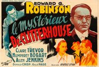 "The Amazing Dr. Clitterhouse (Warner Brothers, 1938). Fine+ on Linen. Horizontal French Double Grande (63"" X 94.5&q..."