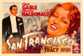 "Movie Posters:Romance, San Francisco (MGM, 1936). Horizontal French Double Grande (63"" X91.5"") Roger Soubie Artwork.. ..."