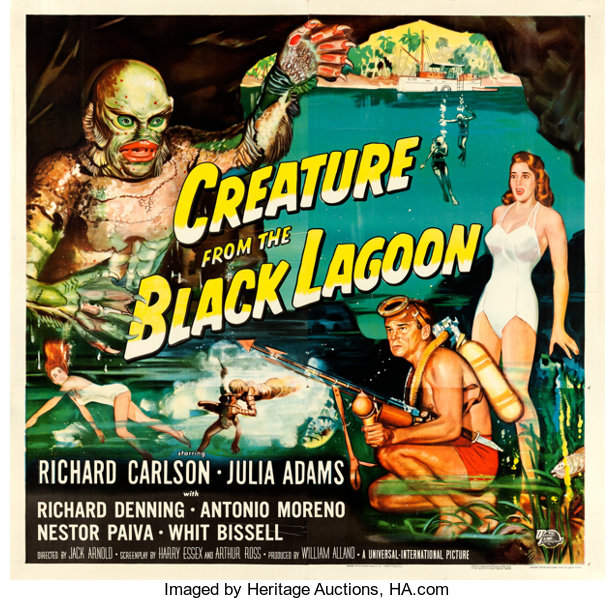 CREATURE FROM THE BLACK LAGOON Movie Poster Horror Classic