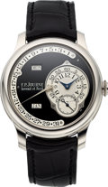 "Timepieces:Wristwatch, FP Journe, Very Rare and Fine, Platinum Octa Calendrier-""BlackLabel"", Circa 2011. ..."