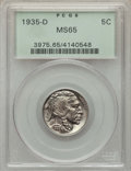 Buffalo Nickels, 1827 5C MS65 PCGS. PCGS Population: (560/226). NGC Census:(294/51). MS65....