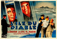 "Alcatraz Island (Warner Brothers, 1938). Horizontal French Double Grande (62"" X 90.5"") Boris Grinsson Artwork..."