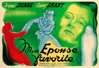 "My Favorite Wife (RKO, 1947). First Post-War Release Horizontal French Double Grande (63"" X 90.75"") Pierre Seg..."