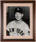 Autographs:Photos, Mickey Mantle Signed & Framed Oversized Photograph. ...