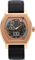 Timepieces:Wristwatch, FP. Journe, Very Rare and Fine Vagabondage III, 18k Red Gold, Patented Constant Force Digital Jump Hour and Seconds, Ltd Ed No...