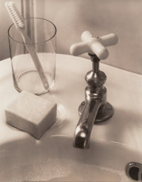 Edward Steichen (American, 1879-1973) Still-life with Sink and Soap, 1930 Gelatin silver, 1950s 1