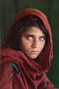 Steve McCurry (American, b. 1950) Afghan Girl, 1984 Oversized dye destruction, 2005 36-1/2 x 24-1