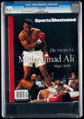 Miscellaneous Collectibles:General, 2016 Muhammad Ali Sports Illustrated Magazine CGC 9.6, Pop One with None Higher....