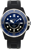 Timepieces:Wristwatch, Chanel, J12 Marine, Automatic, 300M, Black And Blue Rubber . ...