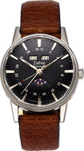 Timepieces:Wristwatch, Zodiac, Ref: 742-908, Full Calendar Moonphase, Circa. ...
