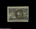 Fractional Currency:Second Issue, Fr. 1316 Milton 2R50.2b 50¢ Second Issue About New. An intriguing minor error where the bronze back surcharges are shifted s...