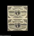 """Fractional Currency:Third Issue, Fr. 1226 Milton 3R3.1c 3¢ Third Issue About New. This nice Vertical Pair is one of the few known multiples of the """"No Pearls..."""