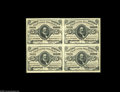 Fractional Currency:Third Issue, Fr. 1236 Milton 3R5.1 5¢ Third Issue Block of Four Choice About New. An extremely rare Red Back multiple that was previously...