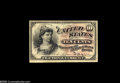 Fr. 1258 10¢ Fourth Issue About New. A chemically altered note, with the seal extremely light and the green back ra...