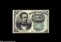 Fractional Currency:Fifth Issue, Fr. 1264 Milton 5R10.1 10¢ Fifth Issue Very Choice New. The marginsare slightly skewed on this Green Seal Ten Cent....
