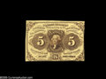 Fractional Currency:Inverts, Fr. 1231 Milton 1R5.1c 5¢ First Issue Inverted Back Choice AboutNew. Listed as unique in the Encyclopedia in 1978, where bo...