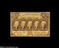 Fractional Currency:Inverts, Fr. 1281 Milton 1R25.4e 25¢ First Issue Inverted Back About New.About a dozen examples are known, making this attractive hi...