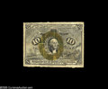 Fractional Currency:Inverts, Fr. 1244 Milton 2R10.1c 10¢ Second Issue Inverted Back SurchargeFine. One of only three examples known to us. A 1914 Chapma...
