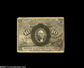 Fractional Currency:Inverts, Fr. 1244 Milton 2R10.1d 10¢ Second Issue Inverted Back EngravingFine. This note was unique when we sold it in 1997 and we b...