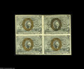 Fractional Currency:Inverts, Fr. 1246 Milton 2R10.3c 10¢ Second Issue Inverted Back SurchargeBlock of Four Extremely Fine. Viewed individually, two of t...