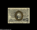 Fractional Currency:Inverts, Fr. 1283 Milton 2R25.1d 25¢ Second Issue Inverted Back SurchargeVery Choice New. We believe the current census is six, with...