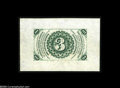 Fractional Currency:Wide Margin Specimens , Fr. 1226SP Milton 3P3R.1 3¢ Third Issue Wide Margin Back Gem New. A basically perfect specimen with broad margins, ideal col...
