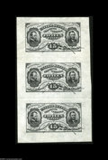 Fractional Currency:Third Issue, Fr. 1272SP Milton 3P15F.1a 15¢ Third Issue Wide Margin Unique Strip of Three About New. At the time of our Friedberg Collect...