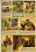 Original Comic Art:Miscellaneous, Prince Valiant Color Guide Original Production Art (King FeaturesSyndicate, 1967).... (Total: 3 Items)