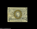 Fractional Currency:Presentation Book , Fr. 1232 Milton 2R5.1f 5¢ Second Issue Treasury Rectangle ExtremelyFine. About half of the rectangle appears at the lower l...